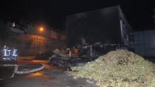 Morlaix : les légumiers détruisent le centre des impôts, nuit du 19 au 20/9/14