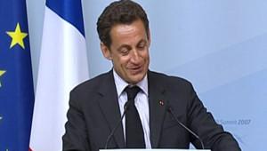 TF1-LCI : Nicolas Sarkozy, lors d'une conférence de presse au G8, en Allemagne, le 7 juin 2007
