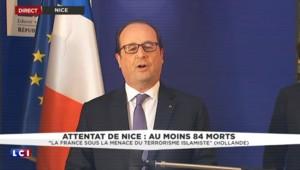 """Attentat de Nice: """"Il y a une cinquantaine de personnes en état d'urgence absolue"""", déclare Hollande"""