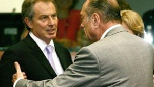 echec sommet UE blair Chirac