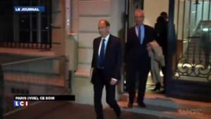 Eric Woerth à la sortie de son audition dans l'affaire de l'hippodrome de Compiègne (24/10/2013)