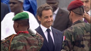 Nicolas Sarkozy, lors du défilé du 14-Juillet 2010