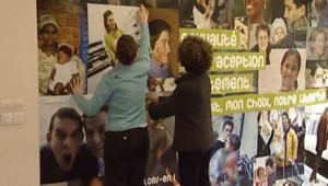 Affiche du Planning familial pour le droit à l'avortement (18 janvier 2008)