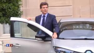 Montebourg à l'Elysée : « C'est une Zoé, la voiture électrique de Renault !»