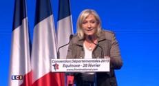 """Départementales : Marine Le Pen évoque """"le concours Lépine de la manipulation électorale"""""""