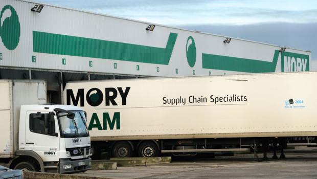 Le site de l'entreprise Mory Ducros à Tatinghem (Pas-de-Calais)
