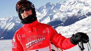 Michael Schumacher lors d'une compétition de ski en Italie en janvier 2006