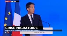 """Crise migratoire : pour Valls, """"on ne peut se soustraire au droit à l'asile au moyen de barbelés"""""""