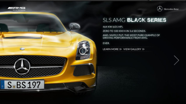 news automoto mercedes sls amg black series site officiel et vid o mytf1. Black Bedroom Furniture Sets. Home Design Ideas