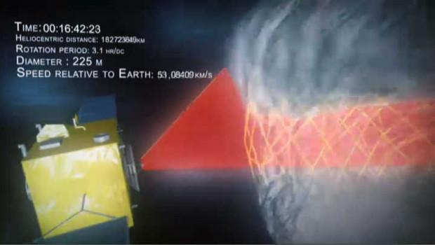 Neoshield, le bouclier anti-astéroïdes en animation 3D