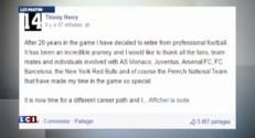 Thierry Henry annonce sa retraite sur Facebook
