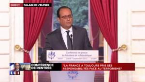 """Hollande sur la Syrie : """"Nous seront prêts à faire des frappes"""""""