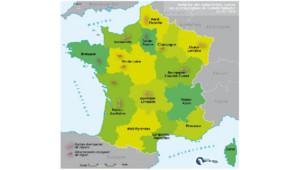 La carte envisagée par le comité Balladur en 2009, prévoyant 15 régions françaises contre 22 actuellement