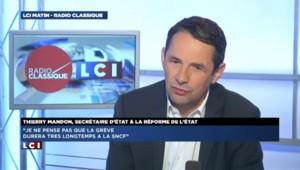 """Grève SNCF : """"Il faut mieux expliquer mais ne pas bouger"""" annonce Mandon"""