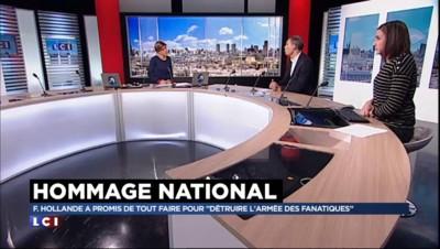 """Hommage national : Hollande """"a voulu dire aux terroristes que nous ne changerons pas"""""""