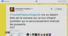 """Cécile Duflot tweet avec humour """"c'est qui le bol…os qui veut arrêter #LesGuignols"""""""