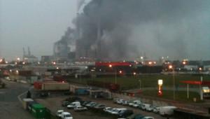 Incendie à la centrale à charbon EDF du Havre (30 janvier 2012)