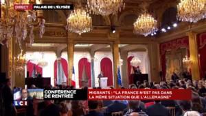 """Hollande sur la crise migratoire : """"La France n'est pas dans la même situation que l'Allemagne"""""""