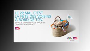 La Fête des Voisins aura aussi lieu dans le TGV le 29 mai.