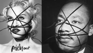 La photo de l'album de Madonna pastichée