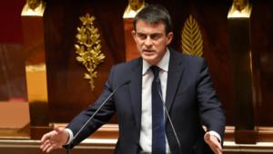 Le Premier ministre, Manuel Valls,