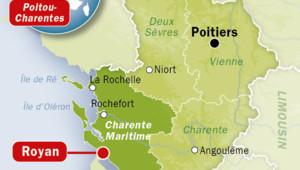 Carte de Royan en Charente-Maritime.