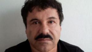 """Joaquin Guzman, dit """"El Chapo"""", après son arrestation, le 23/2/14"""