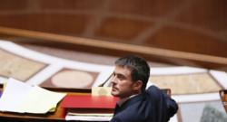 Manuel Valls à l'Assemblée nationale pour le vote de confiance le 16 septembre 2014
