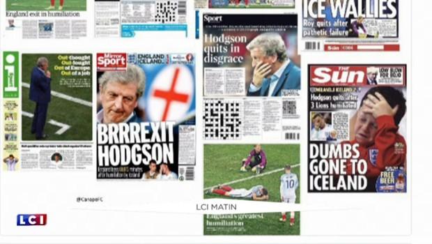 """""""Pire humiliation du football anglais"""", la presse sans pitié à l'égard des Three Lions éliminés de l'Euro"""