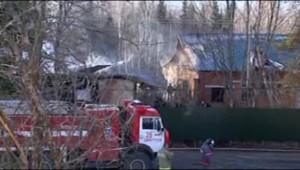 Un incendie s'est déclaré dans un hôpital psychiatrique de la région de Moscou (26 avril 2013)