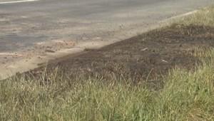 Un véhicule de pompiers a été attaqué et incendié, le 24/06/15.