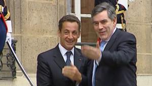 Gordon Brown reçu par Nicolas Sarkozy à l'Elysée le 20 juillet 2007