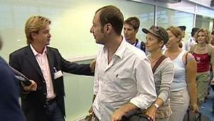LCI-TF1, Les touristes arrivent à Roissy le 22 aout 2006