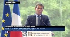 """""""Il est absurde de parler de cadeaux fait aux patrons"""" affirme Valls"""