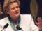 L'Assemblée nationale, novembre 1998. Christine Boutin présente la première motion de l'opposition contre la proposition de loi sur le Pacte civil de solidarité.