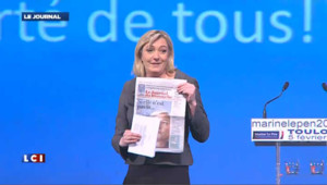 """Son absence à l'élection ? Marine Le Pen dénonce le """"rêve de la classe politique"""""""