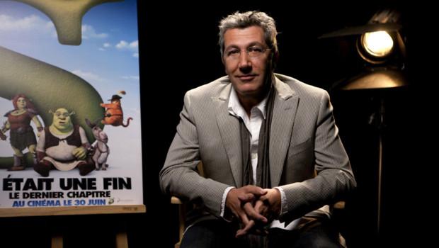Alain Chabat lors du doublage du film Shrek 4, il était une fin