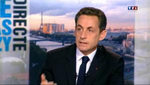 Nicolas Sarkozy dans l'émission Parole Directe sur TF1, le 19 avril 2012