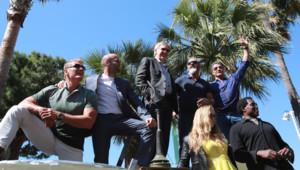 Une partie du casting d'Expendables 3 à Cannes le 18 mai 2014