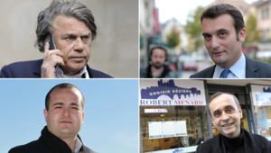 Gilbert Collard, David Rachline, Florian Philippot et Robert Ménard