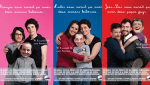 Campagne SOS Homophobie pour l'homoparentalité, lancée le 14 avril 2012.