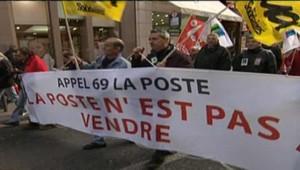 La Poste manifestation privatisation