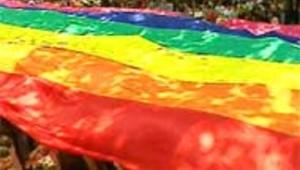 Le rainbow flag lors d'un gay pride parisienne