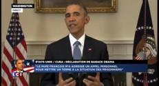 """Rapprochement USA-Cuba: """"Nous allons rétablir une ambassade à La Havane"""", annonce Obama"""