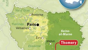 Le village de Thomery en Seine-et-Marne.