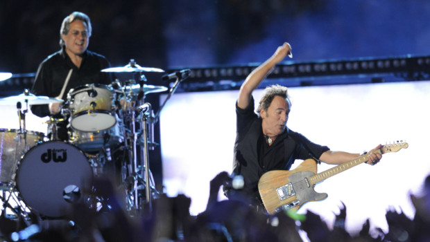 Bruce Springsteen lors du Super Bowl en 2009.