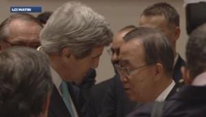 John Kerry et Ban Ki-Moon à la conférence de paix pour la Syrie de Montreux