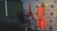 Maria Sharapova lors de la fête organisée sur le Tour Eiffel.