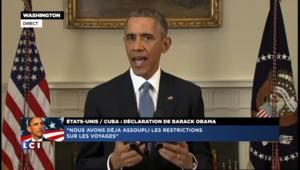 """Rapprochement USA-Cuba: """"J'ai reçu un appel du pape François"""", déclare Obama"""