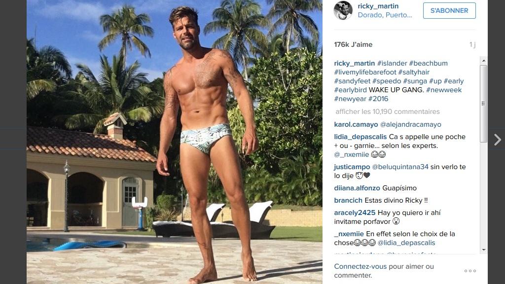 Ricky Martin sur Instagram